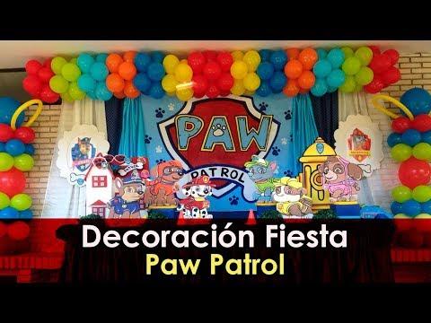 Decoración Fiesta Patrulla Canina Youtube