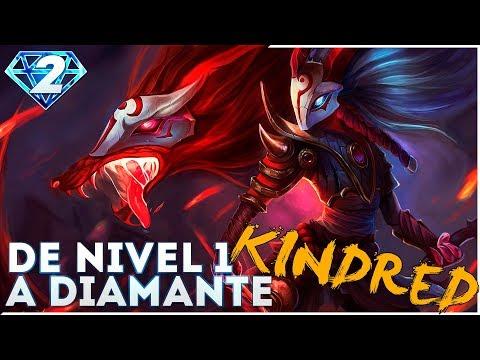 DE NIVEL 1 A DIAMANTE | KINDRED Nuestro primer jungler - COMO PEGA!!