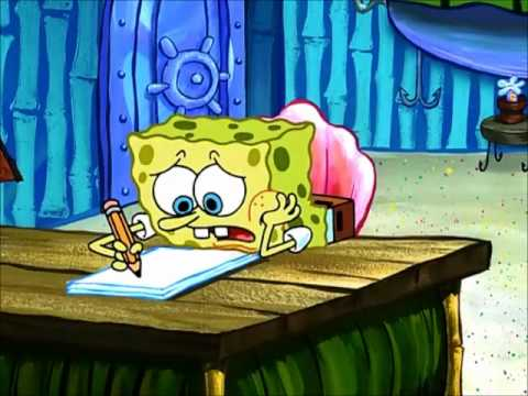 Spongebob writing an essay episode