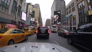 Driving to Downtown Manhattan and to Queens, NYC