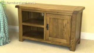 Rustic Solid Oak Tv Cabinet From Oak Furniture Land