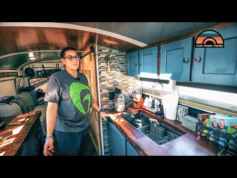 After A Cancer Diagnosis She Sold Everything & Built A Beautiful DIY School Bus Conversion