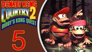 Donkey Kong Country 2 (SNES) playthrough pt5 - Bee Boss is a PAIN/I HATE BEES