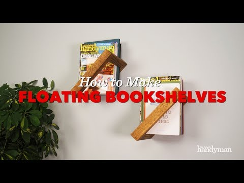 Saturday Morning Workshop: How To Build a Simple Floating Bookshelf