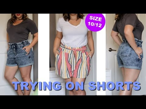 5 Cute Shorts for Curvy Bodies (Try On) | Bailey B.