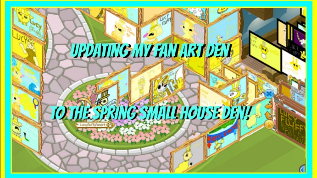 Download Animal Jam: Speed Decorating My Fan Art den/dens. (Updating to the Spring Small House)