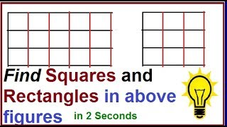 Formula for count the number of squares and rectangular  in the given figure | Math reasoning