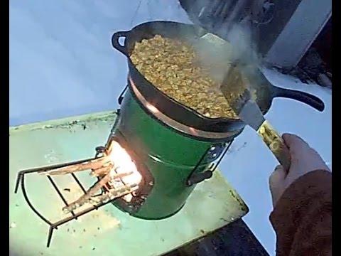 Testing the StoveTec Lightweight Biomass Cookstove (One-Door Deluxe Lite) rocket stove