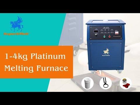 Platinum melting furnace, 1-4kg Induction melting machine for platinum, gold, silver - SuperbMelt