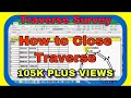Traverse Surveying : Traverse Calculation: How to Close a Traverse