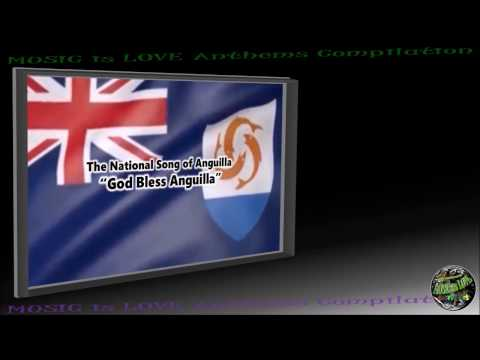 "Anguilla National Song ""God Bless Anguilla"" INSTRUMENTAL with lyrics"