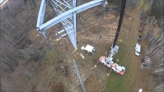 Installing a Wireless Internet Tower(Rionet Wireless of Manitoba Canada installs a 150' Trylon STG tower along the Duck Mountain Provincial Park. There was an existing 80' Trylon Titan which we ..., 2012-10-21T21:21:21.000Z)