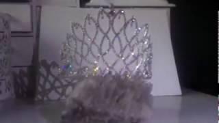 Тиара за коса с белгийски кристали - Queen of Destiny от AbsoluteRose.com