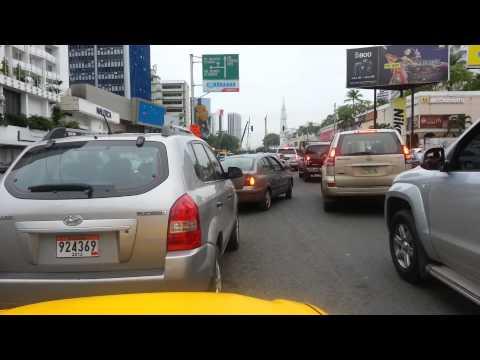 Average Taxi ride in Panama City, Panama (Fast motion!)