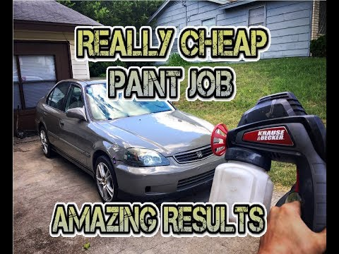 Cheap electric spray gun paint job. (decent results)