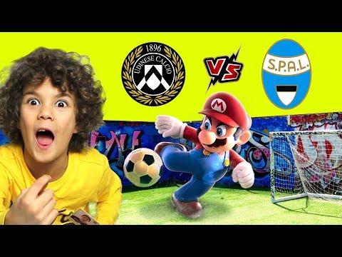 STREET FOOTBALL MARIO BROS and SONIC *Udinese Spal 3 2 1... Calcio d'Inizio**