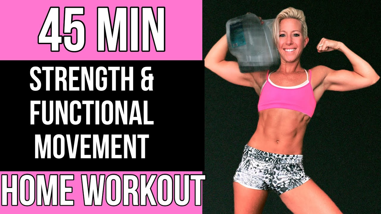 45 MIN/ NO EQUIPMENT/ Functional + Strength Home Workout | RVNFIT