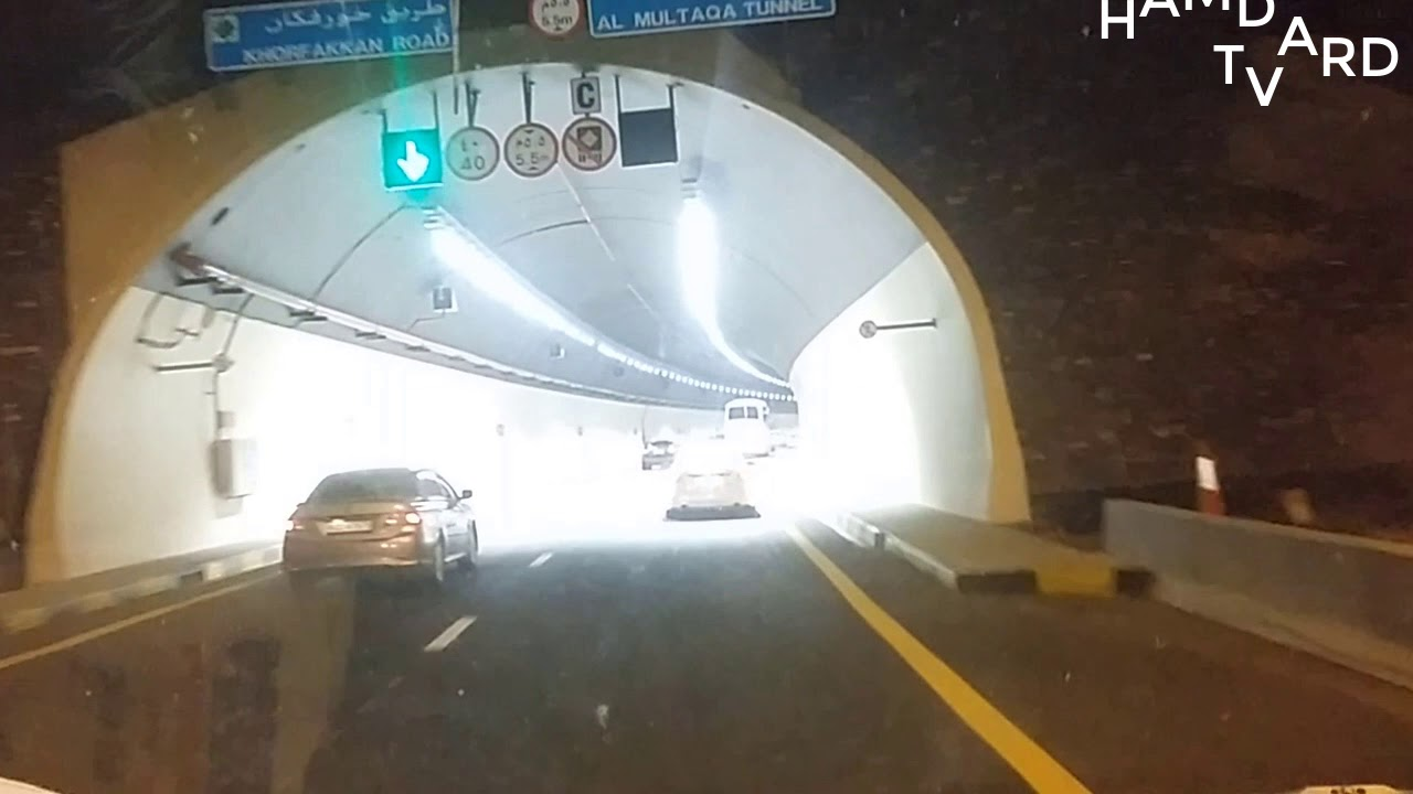 A drive through the longest tunnel in the Middle East; Sharjah - Khor Fakkan road by hamdard  tv