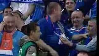 Racism of rangers fans in Lisbon