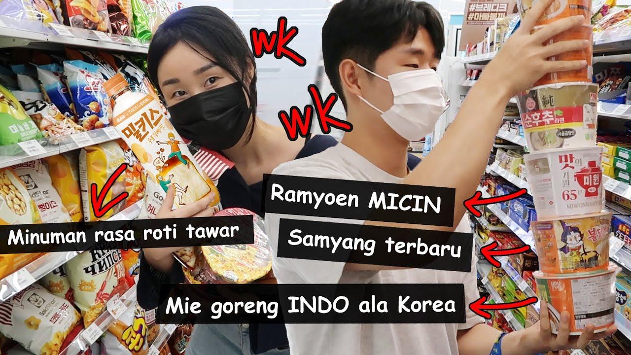 BORONG HANYA MAKANAN ANEH di minimart Korea!!