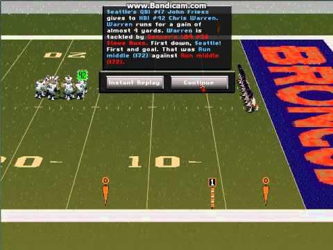 Football Pro 98 with Meringer! Denver vs Seattle Quick Match Part 1