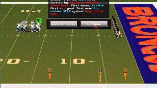 Football Pro 98 with Meringer! Denver vs Seattle Quick Match Part 1