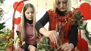 Мастер - класс.Икебана. - Икебана - это японское искусство оформления букета. Само слово икебана означает живые цветы. Как сделать...