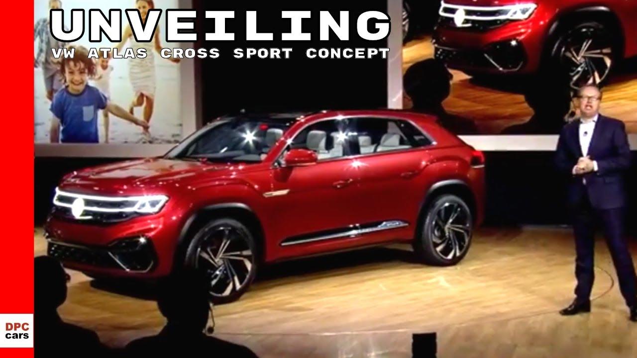 Volkswagen Atlas Cross Sport Concept Vw Unveiling