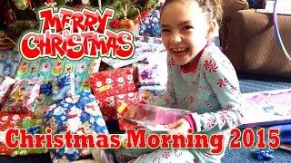 Opening Presents Christmas Morning 2015   CAMMI TV