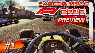 F1 2018 GAMEPLAY: Career Mode Preview Part 1 - Australian Grand Prix