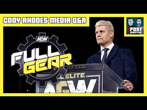 Cody Rhodes AEW Full Gear Media Q&A [Full Audio]