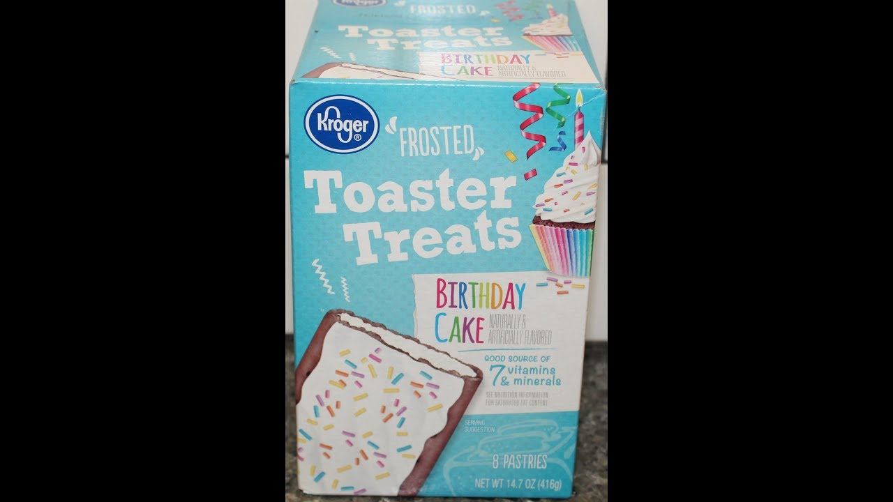 Kroger Birthday Cake Frosted Toaster Treats Review