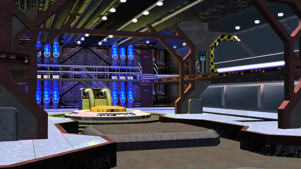 Spaceship hangar video background set with sound a youtube for Puerta nave espacial