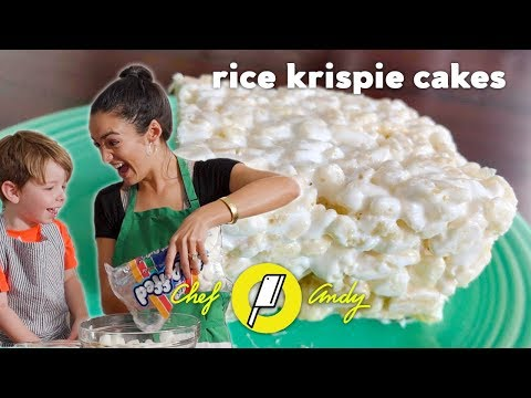 Rice Krispy Recipe with 3 year old  // Chef Andy