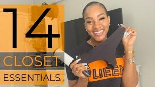 MY 14 CLOSET ESSENTIALS | TANAANIA