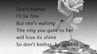 Shakira Don T Bother Lyrics