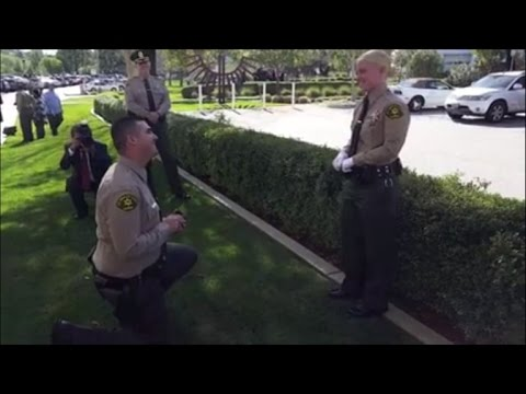 Boyfriend Proposes to Newly Appointed Deputy Sheriff at Graduation