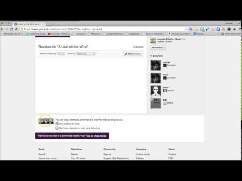 Using free music on Jamendo