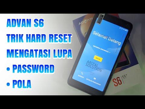 Cara Mudah Hard Reset Wipe Data Advan Vandroid S6 2018 | Mengatasi Lupa Pola Password