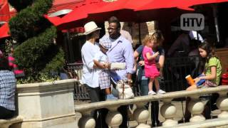 Bobby Brown Gets Family Time At The Grove In Los Angeles.