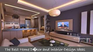 Interior design of living room with kitchen | Kitchen Design & Remodeling Modern Picture