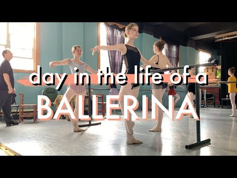 DAY IN THE LIFE OF A DANCER (class, pointe shoes, rehearsal)
