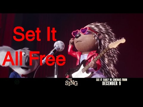 "SING Moive Trailer Mini Spot #3 ""Set It All Free"" Hedgehog Ash - Full Song in Description"