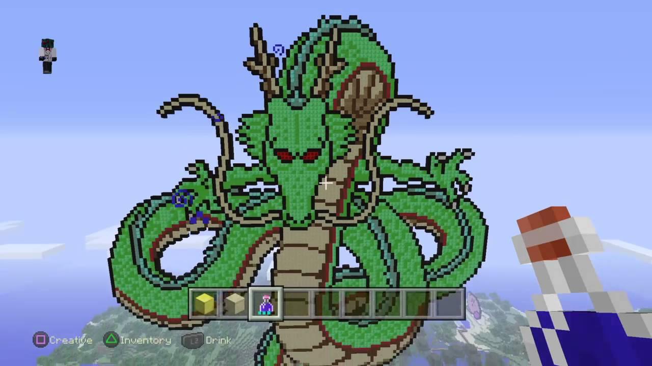 Minecraft Dragon Ball Z Pixel Art Youtube