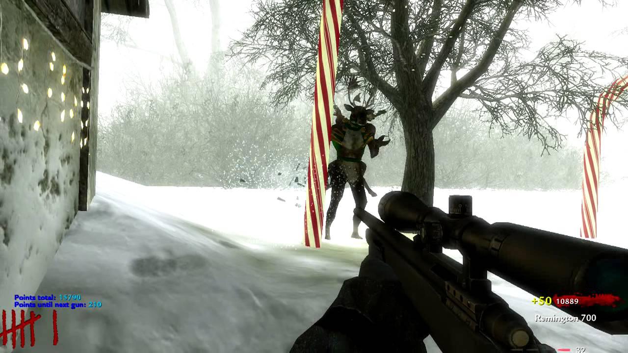CoD WaW: Custom Zombie Map UGX Christmas SOLO Gun Game (PC) ᴴᴰ ...