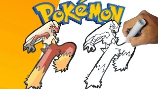 Como dibujar a Blaziken - Pokemon paso a paso | how to draw Blaziken - Pokemon