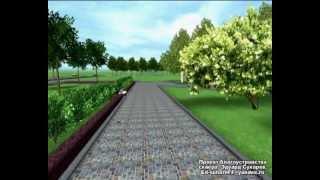 видео Ландшафтный дизайн сквера