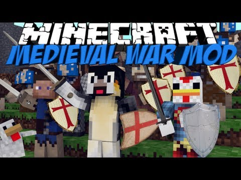 Medieval War Mod: Minecraft The Wars Mod Showcase - 6 Unique Classes!