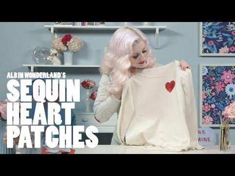 DIY Sequin Heart Patches   ALB in Wonderland