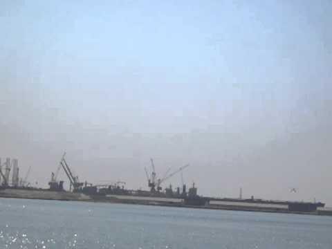Sea Plane Taking off in Port Rashid Dubai